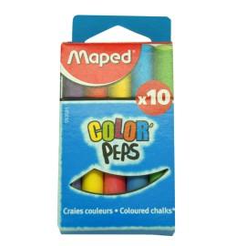 Boite de 10 craies couleurs